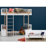 Oliver Furniture Umbausatz vom Bettsofa zum Hochbett Wood weiß/Eiche