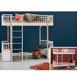 Oliver Furniture Umbausatz vom Etagenbett zum Hochbett Wood in weiß/Eiche