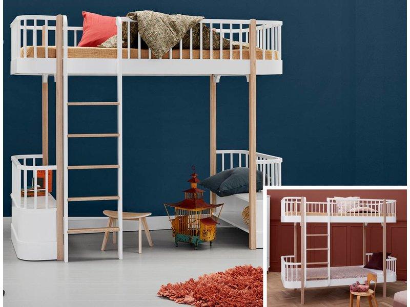 Etagenbett Oliver : Wood umbausatz vom etagenbett zum hochbett in weiß eiche www.romy