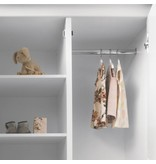 Sanders NORA Kleiderschrank 2-türig in weiß mit Verzierungen