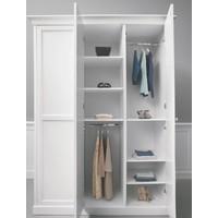 NORA Kleiderschrank 3-türig weiß