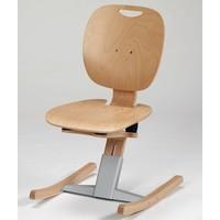 M 6 Kufenstuhl mit Holzsitz