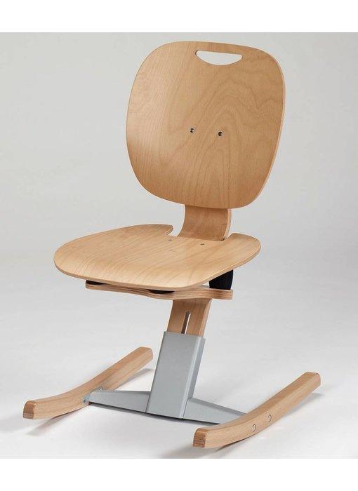 Moizi M 6 Kufenstuhl mit Holzsitz