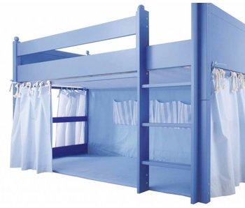 Annette Frank Lattenrosthimmel grau für 90 x 200 cm Bett