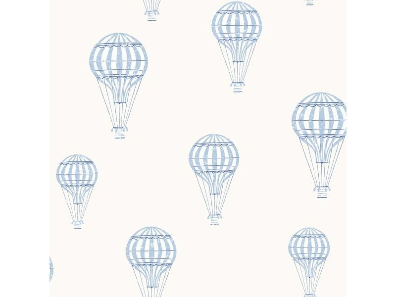 "Boråstapeter Tapete ""André""  Heißluftballons blau - Scandinavian Designers Mini"