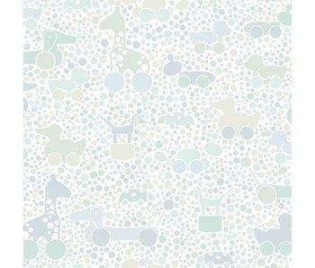 """Boråstapeter Tapete """"Brio Dots"""" blau grün pastell"""