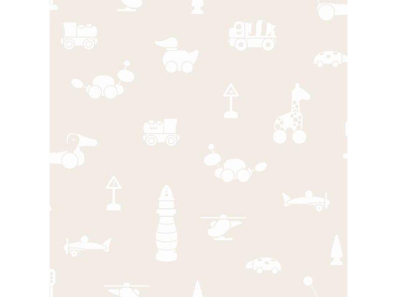"Boråstapeter Tapete ""Brio Icons"" Spielwelt Motive auf beige - Scandinavian Designers Mini"