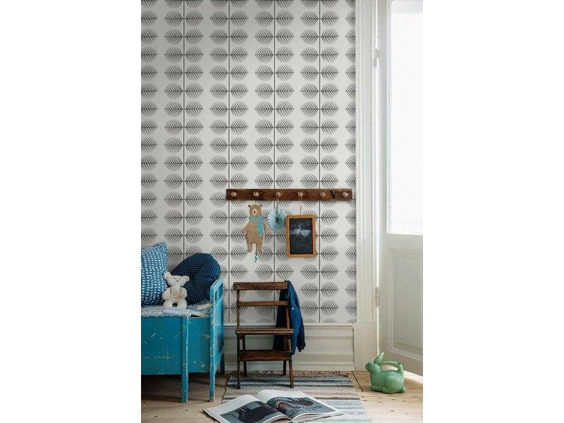 "Boråstapeter Tapete ""Bersa 2"" Blattmuster in grau - Scandinavian Designers Mini"