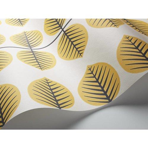 "Boråstapeter Tapete ""Bersa 2"" Blattmuster in gelb - Scandinavian Designers Mini"