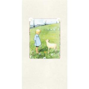 """Boråstapeter Wandbild """"Bä bä vita lamm"""" Kind und Lamm"""