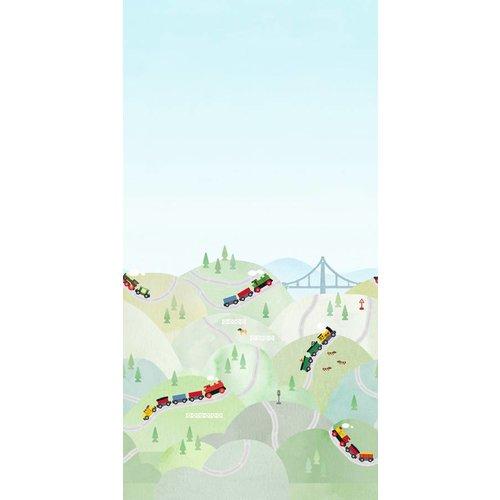 """Boråstapeter Wandbild """"Brio Hills"""" Zugfahrt durch die Berge"""