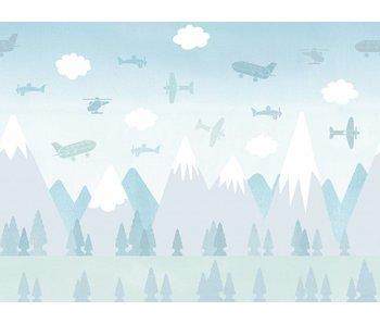 "Boråstapeter Wandbild ""Brio Air"" Flug durch die Berge"
