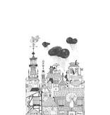 "Boråstapeter Wandbild ""Ingalunda"" die schlafende Stadt - Scandinavian Designers Mini"
