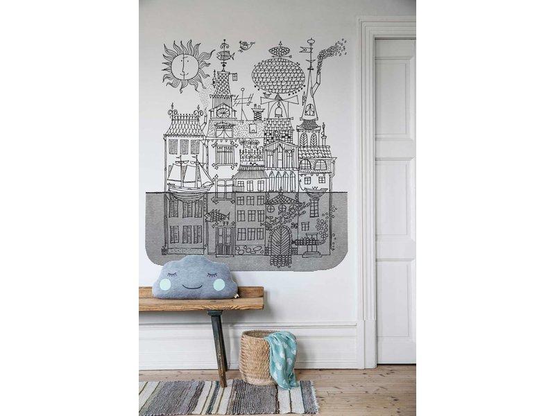 "Boråstapeter Wandbild ""Salunda"" eine Stadt im Wasser - Scandinavian Designers Mini"