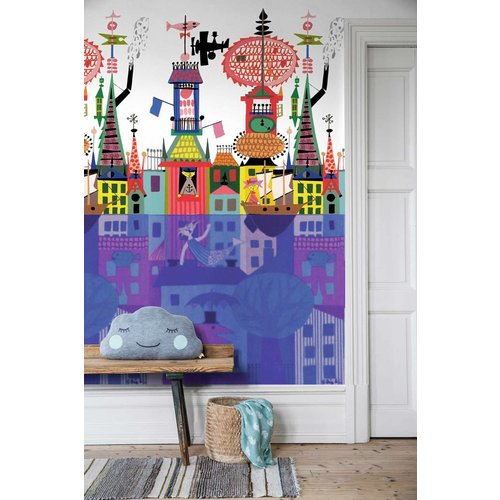 "Boråstapeter Wandbild ""Salunda Multi"" eine Stadt im Wasser - Scandinavian Designers Mini"