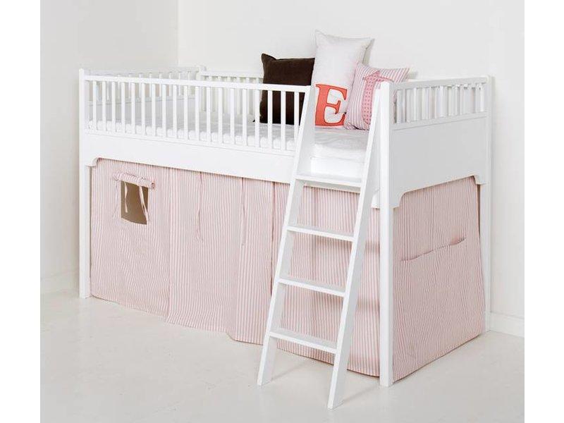 Hochbett Vorhang Set Mädchen : Oliver furniture vorhang halbhohes hochbett rosa streifen