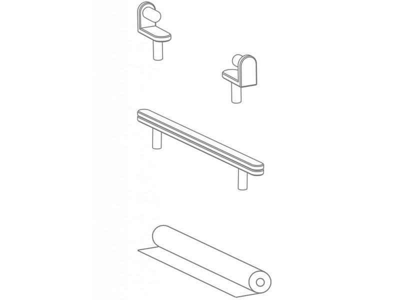 Pure Position Zeichenrolle mit Aufnahme und Abreißschiene reinweiss