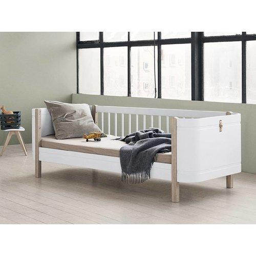 Oliver Furniture Wood Mini+ low loft bunk bed white-oak