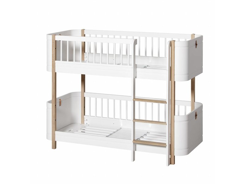 Oliver Furniture Wood Mini+ halbhohes Etagenbett weiß-Eiche