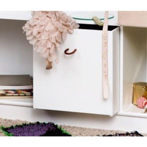 Oliver Furniture Wood Kisten weiß-Eiche 3 Stück