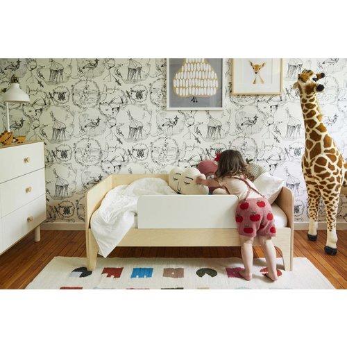 Oeuf Kinderbett Perch weiß-Birke 70 x 140 cm inkl. Rausfallschutz