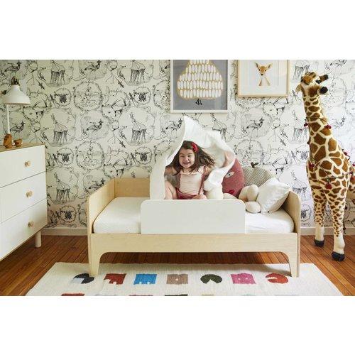 Oeuf Kinderbett Perch weiß-Walnuss 70 x 140 cm inkl. Rausfallschutz