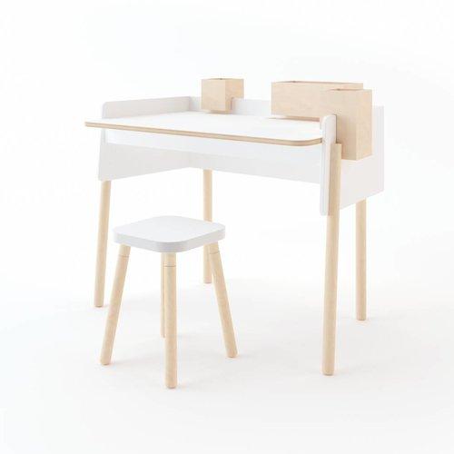 Oeuf Schreibtisch Booklyn weiß-Birke