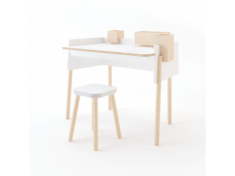 Oeuf Schreibtisch Brooklyn weiß-Birke