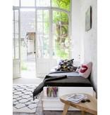 Oeuf Einzelbett River 90 x 200 cm weiß-walnuss