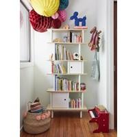 Bücherregal Mini Library vertikal Birke