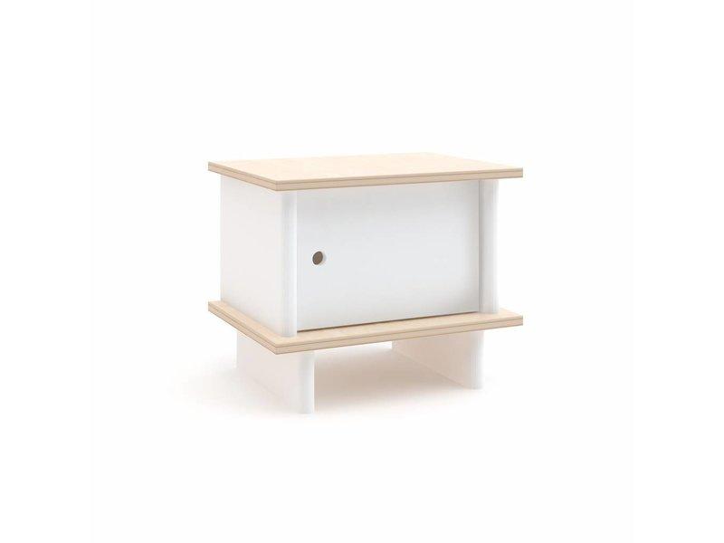 Oeuf Nachttisch Mini Library weiß-Birke