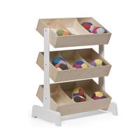 Spielzeugregal Toystore weiß-Birke