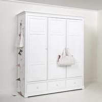 Kleiderschrank 3-türig Höhe 195 cm, weiß