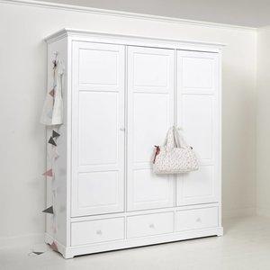 Oliver Furniture Kleiderschrank 3-türig Höhe 195 cm, weiß