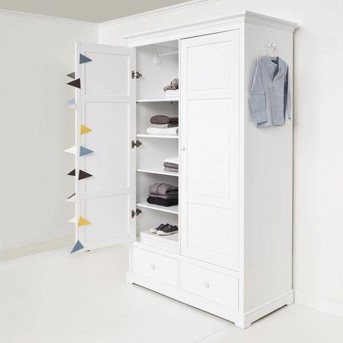 Oliver Furniture Kleiderschrank 2-türig Höhe 195 cm, weiß