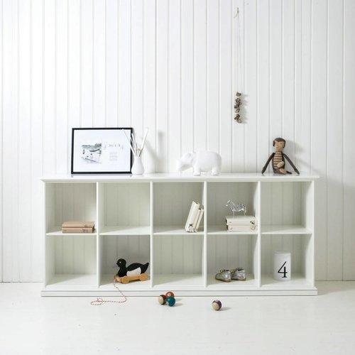 Oliver Furniture Halbhohes Regal mit 10 Fächern, weiß