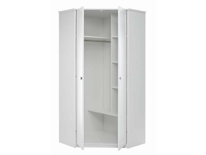 LIFETIME Eck-Kleiderschrank mit Drehtüren in whitewash