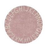 Lorena Canals Teppich ABC rund 150 cm rosa-natur