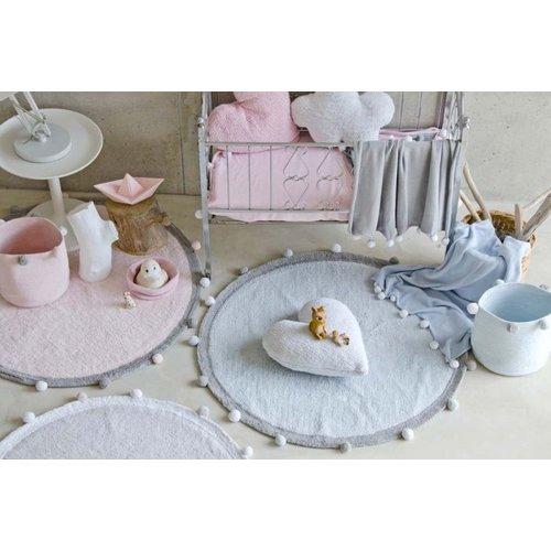 Lorena Canals Teppich Bubbly rund 120 cm - soft pink