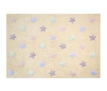 Lorena Canals Teppich Tricolor Stars soft mint