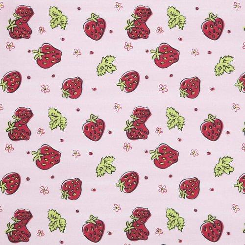 LIFETIME Stoff mit Strawberries Design
