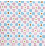LIFETIME Stoff mit Multi Flower Design