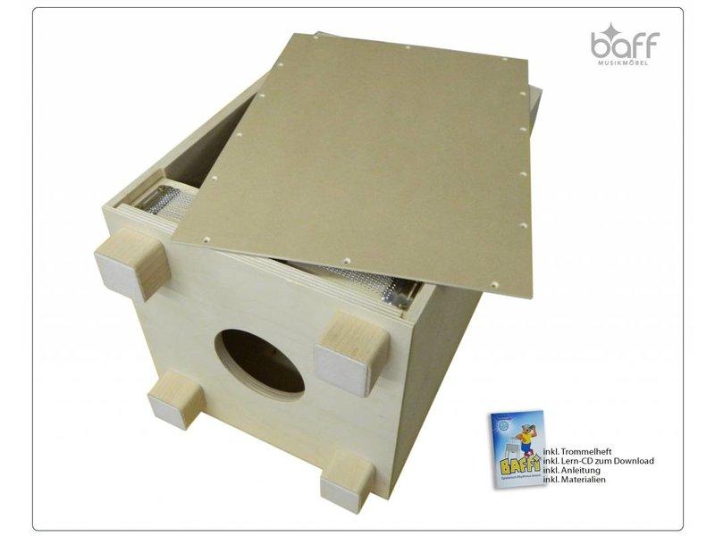 baff Musikmöbel Kindertrommelhocker Bausatz 38 cm Sitzhöhe