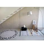 Lorena Canals Teppich ABC rund 150 cm  natur-schwarz
