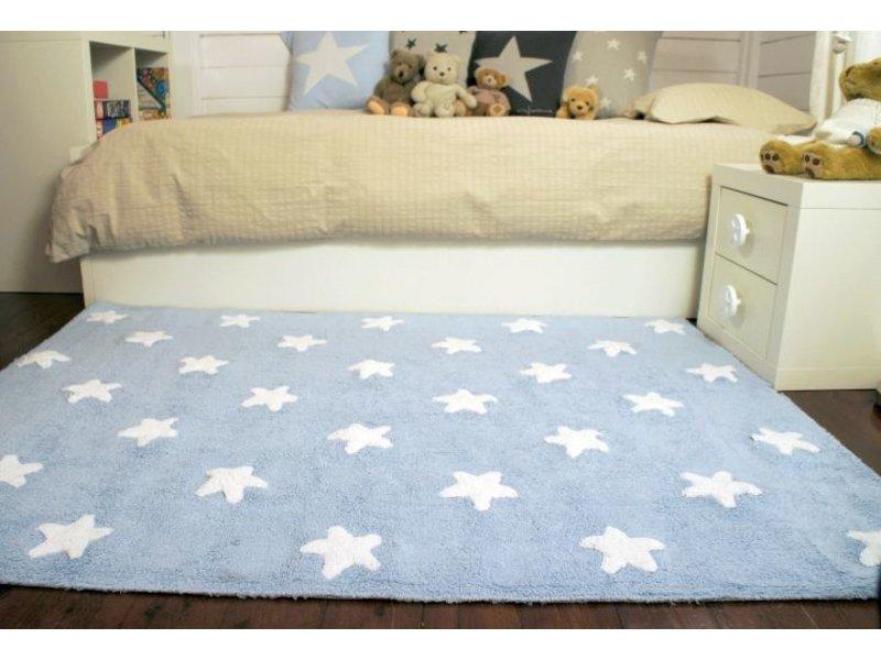 Lorena Canals Teppich Sterne 120 x 160 cm - blau