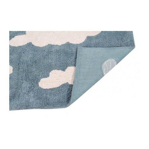 Lorena Canals Teppich Wolken 120 x 160 cm - blau