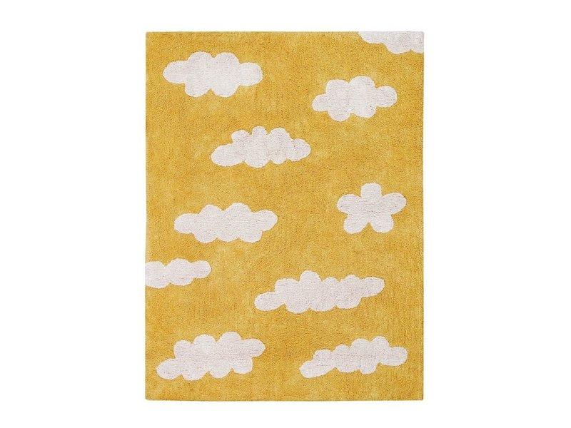 Lorena Canals Teppich Wolken 120 x 160 cm - senfgelb