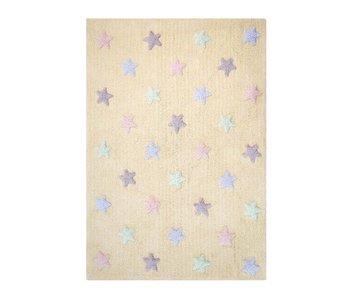 Lorena Canals Teppich Tricolor Stars vanilla