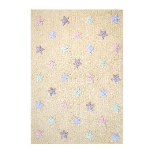 Lorena Canals Teppich Tricolor Stars 120 x 160 cm - vanilla
