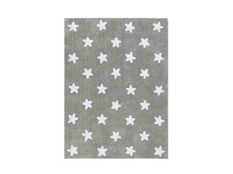 Lorena Canals Teppich Sterne 120 x 160 cm - grau